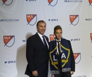Ignacio Maganto is drafted in the 1st round (21st overall) of the 2015 MLS SuperDraft by the LA Galaxy. Photo by Chris Thomas