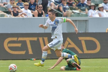 Photo by Robert Mora / LA Galaxy - Robbie Keane plays for the LA Galaxy in a 3-1 victory over the Portland timbers at StubHub Center on August 2, 2014