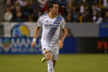 LA Galaxy defender Dan Gargan plays vs San Jose. Photo by Robert Mora / LA Galaxy