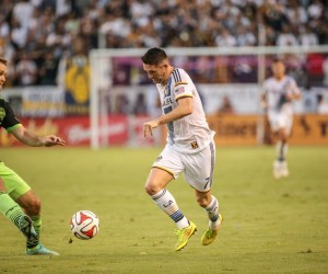 LA Galaxy v Seattle Sounders at StubHub Center on October 19, 2014.