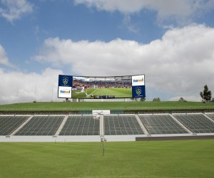 LA Galaxy and AEG Announce a $15 million investment in StubHub Center to include Training fields, facilities and a new 5,100 square foot LED Video Board, billed as MLS' largest. Rendering Courtesy of LA Galaxy