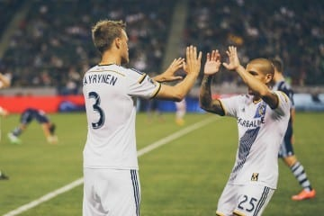 2015 Season: LA Galaxy v Sporting Kansas City at StubHub Center on April 18, 2015 in Carson, CA. Photo by Asano/LA Galaxy.
