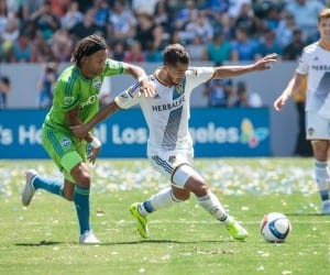 2015 Season: LA Galaxy v Seattle Sounders FC at StubHub Center on August 9, 2015 in Carson, CA. Photos by LA Galaxy. Giovani dos Santos