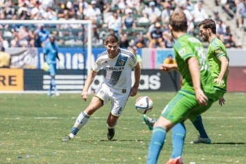 2015 Season: LA Galaxy v Seattle Sounders FC at StubHub Center on August 9, 2015 in Carson, CA. Photos by LA Galaxy. Steven Gerrard