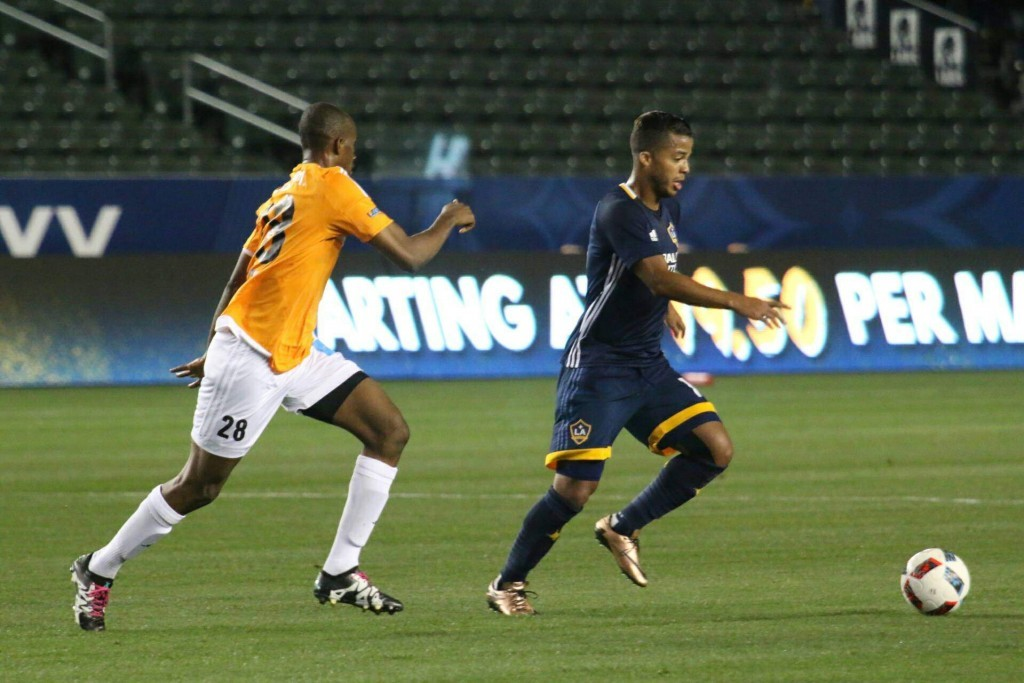 Giovani Dos Santos plays against FC Shirak on January 30, 2016 at StubHub Center. Photo by Brittany Campbell.