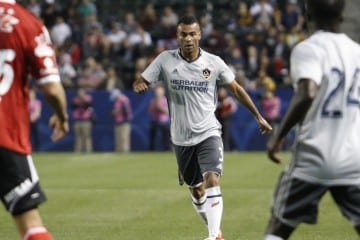 Ashley Cole plays in his preseason debut for LA Galaxy vs Xolos. Photo by Brittany Campbell