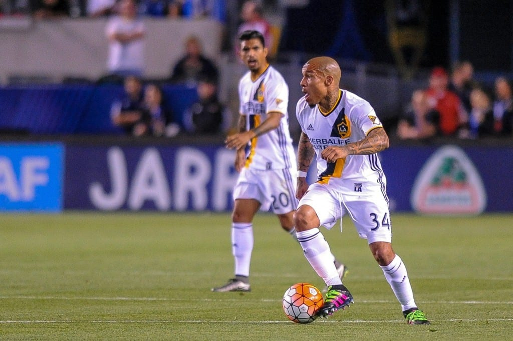 2015-16 CONCACAF Champions League quarterfinals, first leg. LA Galaxy vs. Santos Laguna