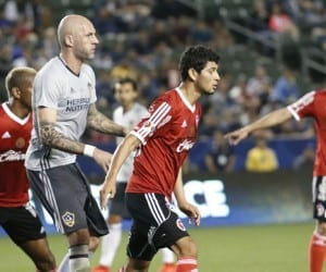 Jelle Van Damme against Xolos. Photo by Brittany Campbell