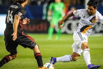 LA Galaxy vs DC United. Steve Carrillo